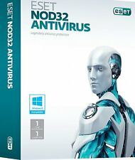 ESET NOD32 Antivirus 1PC 1Anno Licenza Originale Fatturabile
