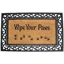 Rubber Doormat Wipe Your Paws Outdoor Floor Welcome Entrance Rug Scroll Door Mat