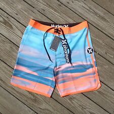HURLEY SURF BLOCK PARTY RETRO PHANTOM BOARDSHORTS SIZE 32 NEW! SWIM BEACH 19""
