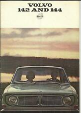 VOLVO 142 AND 144 SALES BROCHURE 1967 1968