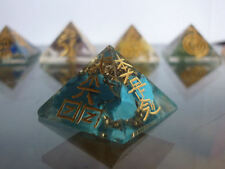 PIRAMIDE ORGONE orgonite REIKI CHAKRA cristallo TURCHESE+ CD EBOOK energia aura