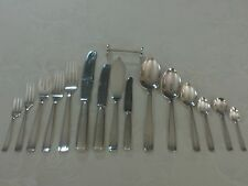 WW2 Gero 90 by Nilsson service for 12 Silverplate Flatware 237-pc set w/ cabinet
