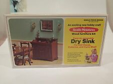 Realife Miniatures Dry Sink Kit Doll House furniture wood kit # 226 Real Life