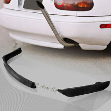 For 1990-1997 Mazda Miata RS-Style Black Polyurethane Rear Bumper Spoiler Lip