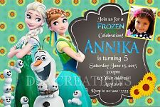 12 FROZEN FEVER Birthday party invitations personalized custom PRINTED