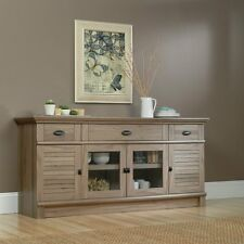 """Buffet Sideboard Credenza Weathered Gray Oak Finish TV Stand Storage Cabinet 71"""""""