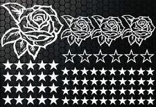 93 Rosen Sterne Star Auto Aufkleber Set Sticker Rosen Stylin Wandtattoo Blumen d