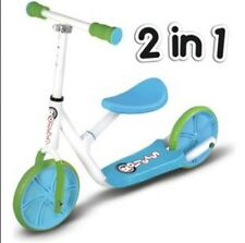Rollers by Zinc R2 Balance Bike to Inline Scooter - Boys' Blue & Green BNIB 2+