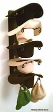 American Made Cowboy Hat Holder with Stars Powder Coated Black