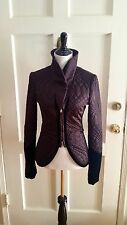 GUCCI FALL WINTER 2005 BROWN LIGHT PUFFER JACKET W/ VELVET TRIM IN SIZE IT40/US4