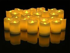 24Pc Romantic LED Lighted Flickering Votive Style Flameless Candles Party Supply