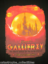 DOCTOR WHO Travel To Gallifrey TARDIS Dr Time Lord Souvenir Tee TEEFURY T-SHIRT