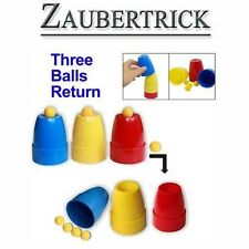 Zaubertrick Cups and Balls, Zauberer, zaubern Trick Magie Magic Illusionszauber