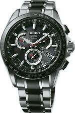 NEW SEIKO ASTRON DUAL TIME ZONE TITANIUM/CERAMIC SSE041 BLACK CERAMIC
