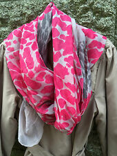 Scarf Shawl Sarong Pashmina stole Wrap Hawkins Large HOT PINK grey leopard print