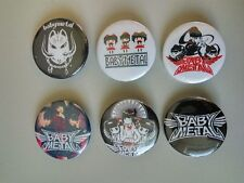 6 x Babymetal band buttons, badges,(cd, music, accessories, Metal Resistance)
