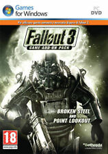 FALLOUT 3 Game Add-on Pack BROKEN STEEL and POINT LOOKOUT ✰ PC ✰ Nuovo ITALIANO