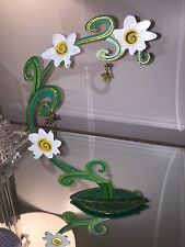 "EASTER EGG Display-Fanciful Flights ""Flowers Arch"" Stand Silvestri Karen Rossi"