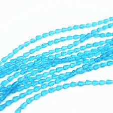 50pcs 5x3mm sky blue Faceted Teardrop crystal glass Jade Spacer beads