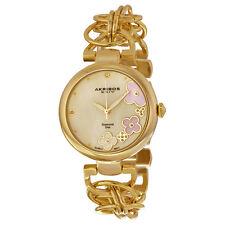Akribos XXIV Mother of Pearl Dial Gold-tone Ladies Watch AK645YG