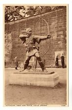 Robin Hood Statue - Nottingham Photo Postcard c1940s