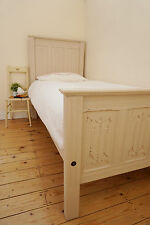 Lovely Antique Painted Soft truffle(Laura Ashley) Shabby Chic Pine Single bed