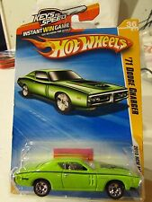 Hot Wheels '71 Dodge Charger 2010 New Models Green