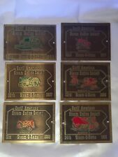 Early American Steam Engine Society Plaques Windsor Steam-O-Rama Brass Vintage