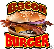 "Bacon Burger Hamburger Cheeseburger Concession Food Truck Vinyl Menu 14"" Decal"