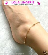 Chaine De Cheville Bracelet Motif Boules Plaqué Or Bijou Pied Chevillère Anklet