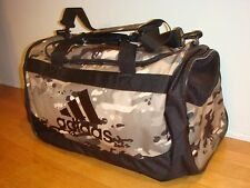 ADIDAS CAMOFLAUGE DUFFLE GYM BAG ADJUSTABLE STRAP DEFENSE DUFFLE MEDIUM