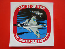 AUTOCOLLANT STICKER AUFKLEBER JAS 39 GRIPEN MULTIROLE FIGHTER