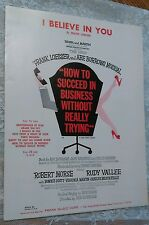 I BELIEVE IN YOU Frank Loesser HOW TO SUCCEED IN BUSINESS Sheet Music 1961