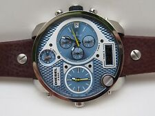 DIESEL SBA 65X57MM  MR. DADDY STAINLESS MEN'S CHRONOGRAPH WATCH, DZ7322, NIB,
