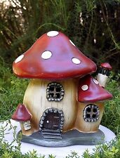 Miniature Dollhouse FAIRY GARDEN Gnome ~ Mushroom House Cottage with Light ~ NEW