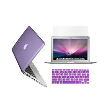 "3 in 1 Crystal  PURPLE Case for Macbook PRO 13"" + Keyboard Cover + LCD Screen"
