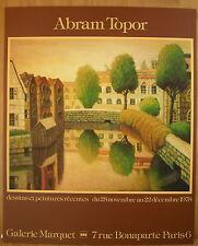 * Superbe affiche lithographie par Abram Topor Galerie Marquet 1978 Poster
