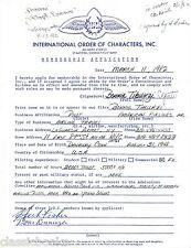 BONNIE TIBURZI CAPUTO  Signed Letter Historical Aviation 1st Women Airline Pilot