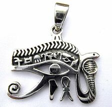 Sterling Silver (925)  Eye  Of  Horus  Pendant ( 4.5 gram )  !!   Brand New !!