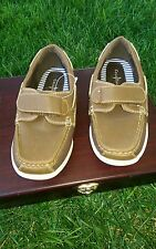 """Cole Haan """"Calvin"""" Brown Canvas/Leather Boat shoes Boys Size 1"""