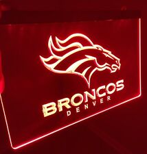 NFL Denver Broncos LED Neon Sign for Game Room,Office,Bar,Man Cave Super NEW