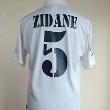 Real Madrid Home Football Shirt Adult Medium ZIDANE #5 2001/2002 Centenary