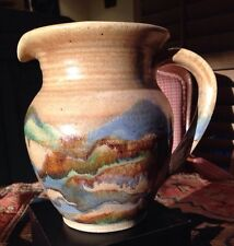 Earthen Ware Pitcher Studio Pottery Signed