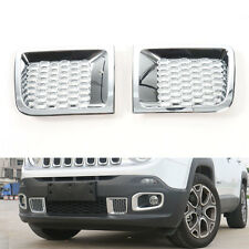 ABS Front Bumper Air Intakes Duct Vent Cover Trim For jeep Renegade 2015-2016 x2