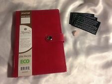 Leather Journal + PINK QUARTZ Tumbled Stone [SOOTHES HEARTACHE] FREE SHIPPING