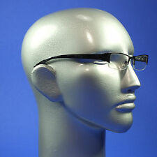 Computer Reading Glasses Lightweight Pewter Metal Frame Aspheric Lens +3.50