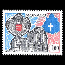 Monaco 1982 - Creation of Archbishopric of Monaco Architecture - Sc 1338 MNH