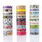 DIY Floral Washi Sticker Decor Roll Cartoon Paper Masking Adhesive Tape Crafts