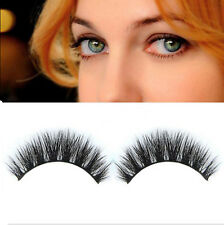 1 pair Real Mink Hair Thick Cross Long False eyelashes eye lashes Make Up Tool
