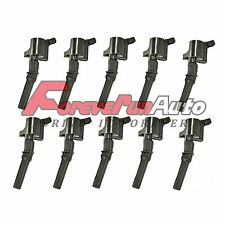 New Ignition Coils on Plug Pack 10 Pcs For Ford Econoline Super Duty Truck 6.8L